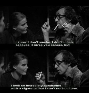smoking woody allen