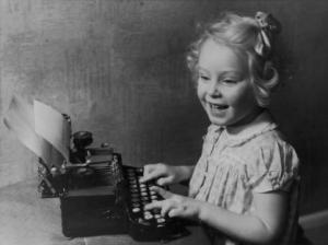 little-girl-at-typewriter